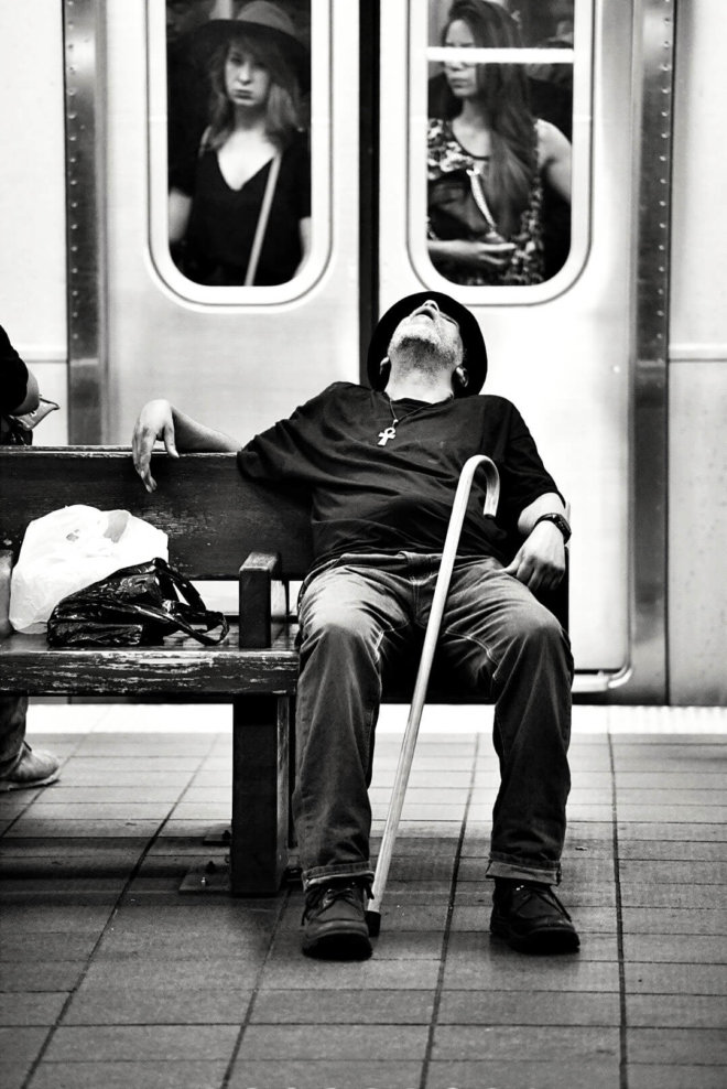 Man+Asleep+metro