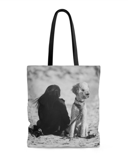 Black and White Print Tote Bag
