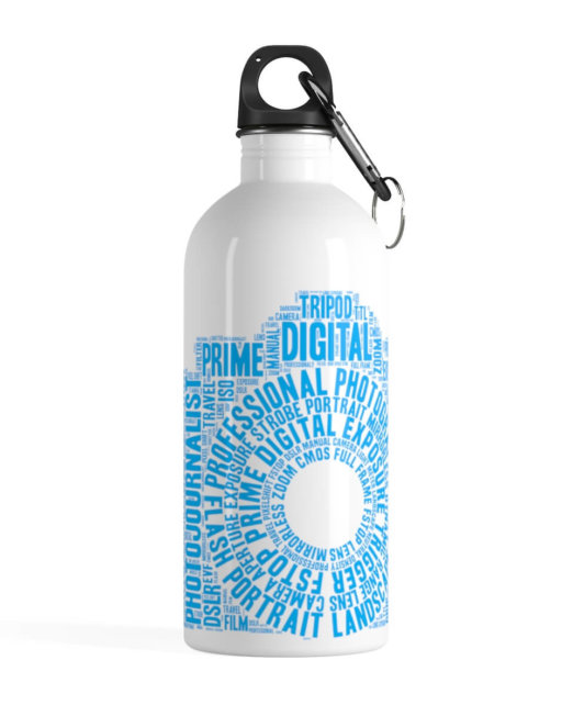Stainless Steel Photography Word Cloud Water Bottle