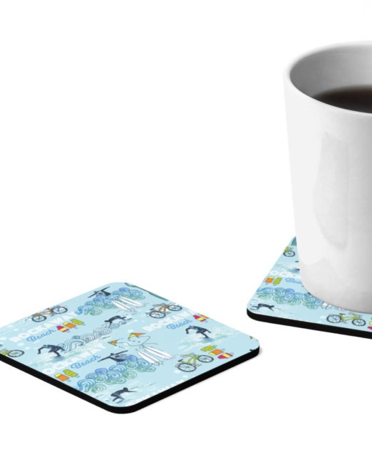 Rockaway Beach Drinks Coasters