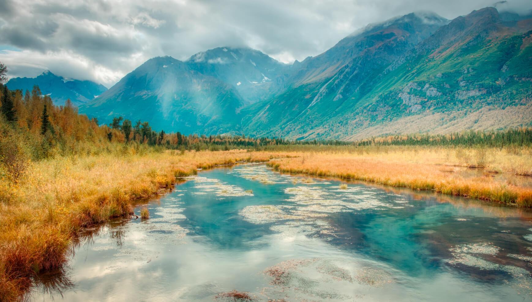 Eagle River near Anchorage Alaska