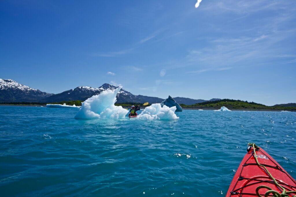 Kayaking in Heather Bay