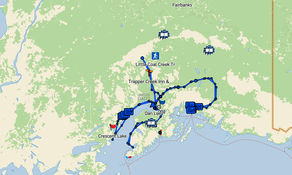 Map of Places to Visit in Alaska