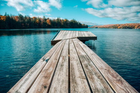 Fall in Lake Placid Jetty