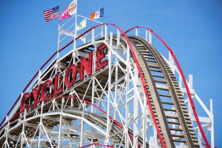 Coney Island Cylone in Brooklyn New York City
