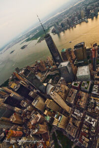 Aerial Photography of New York City and Lower East Side