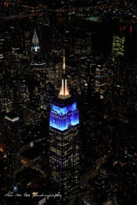 Night Aerial Photography of New York City