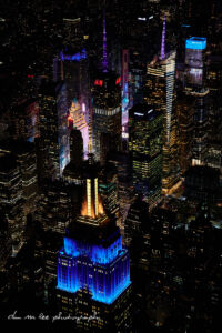Night Aerial Photography of New York City & Times Square
