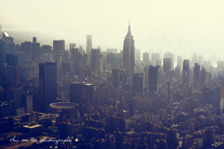 Aerial Photography of New York City and Empire State Building